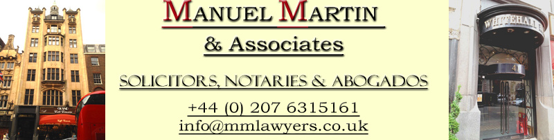 Manuel Martin & Associates, Spanish Lawyers in London